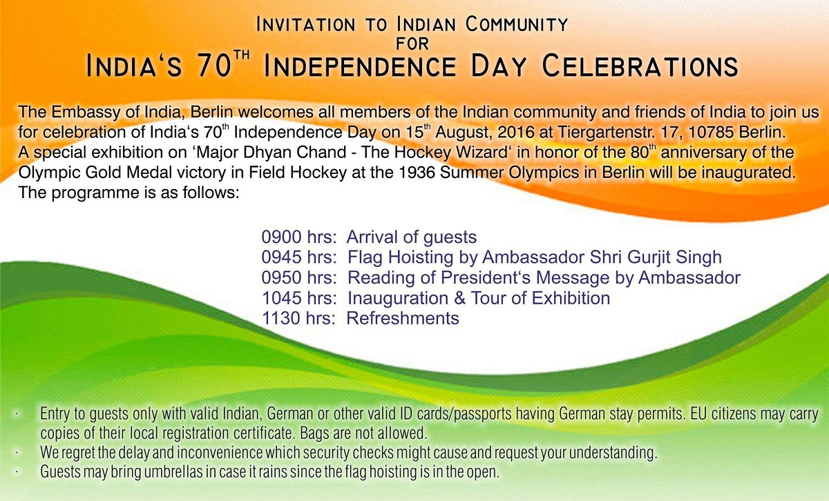Invitation for 70th independence day celebrations embassy of invitation for 70th independence day celebrations embassy of indiaberlin germany stopboris Gallery