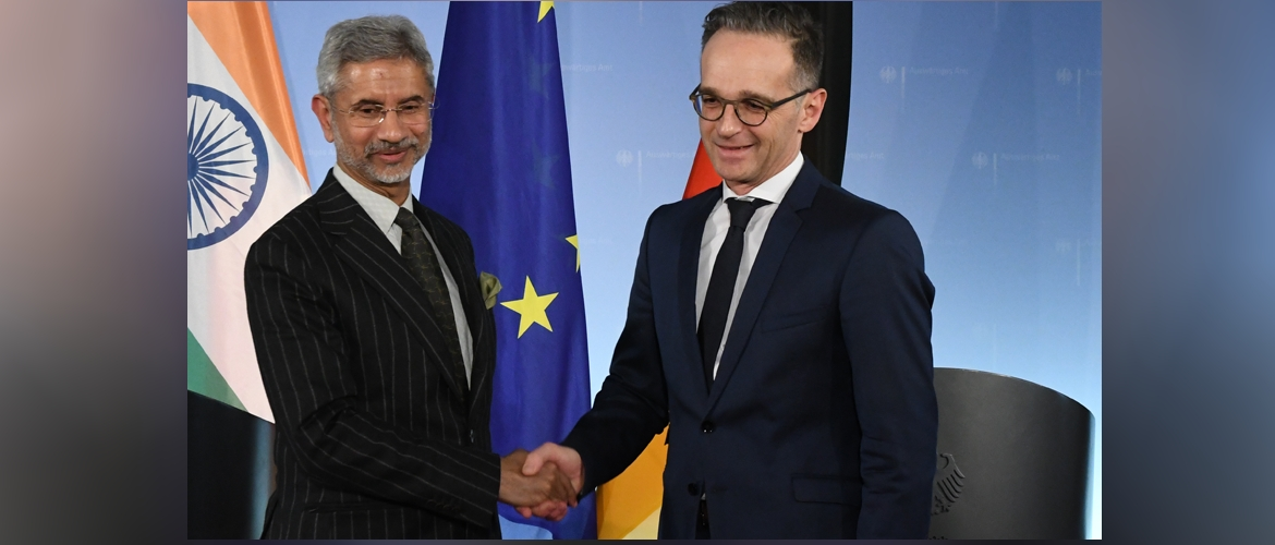 External Affairs Minister Dr. S. Jaishankar with Federal Minister of Foreign Affairs Heiko Maas <br>during his visit to Berlin, 18 February 2020.