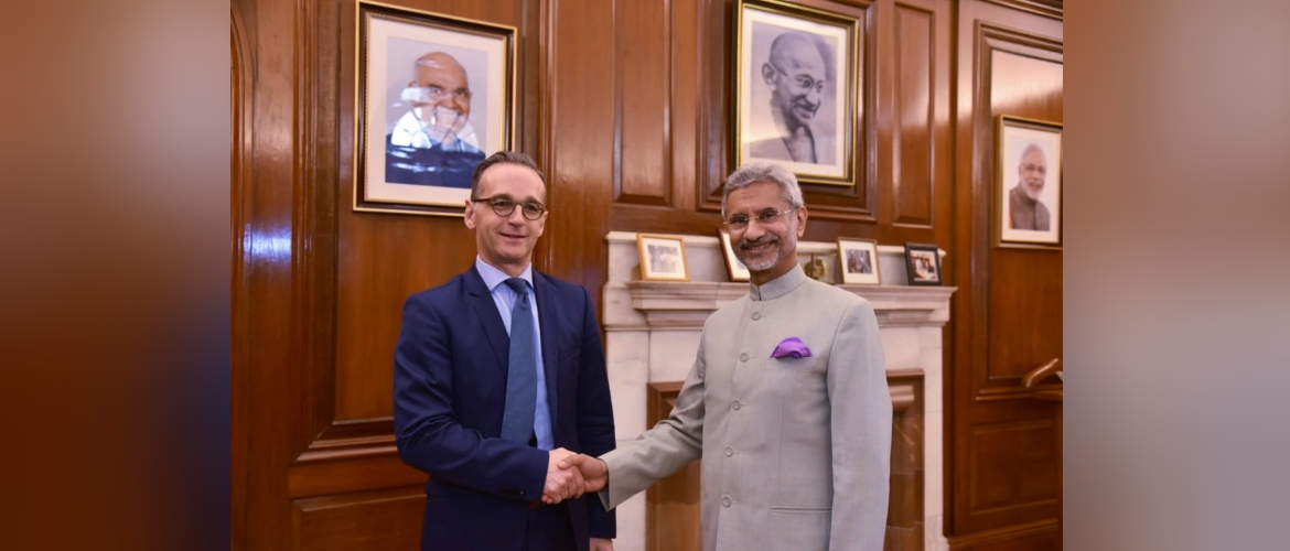 EAM Dr. S. Jaishankar meets German Foreign Minister Mr. Heiko Maas during his visit to India for the 5th Inter-Governmental Consultations
